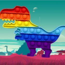 Dinosaur Pop It Jigsaw